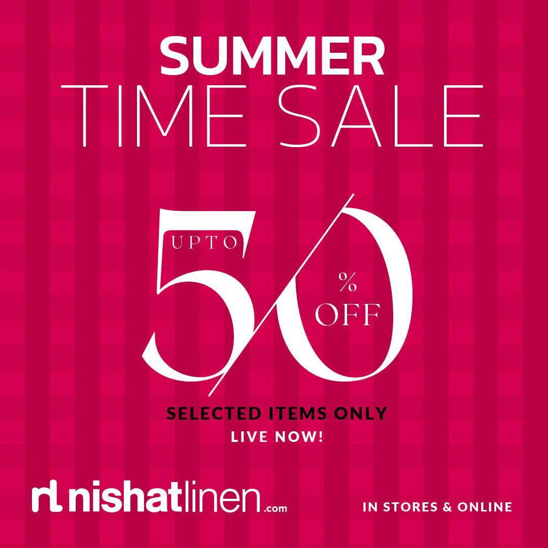 Nisaht Linen Sale upto 50% off